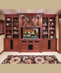 Home Entertainment Center from Closet and Storage Concepts