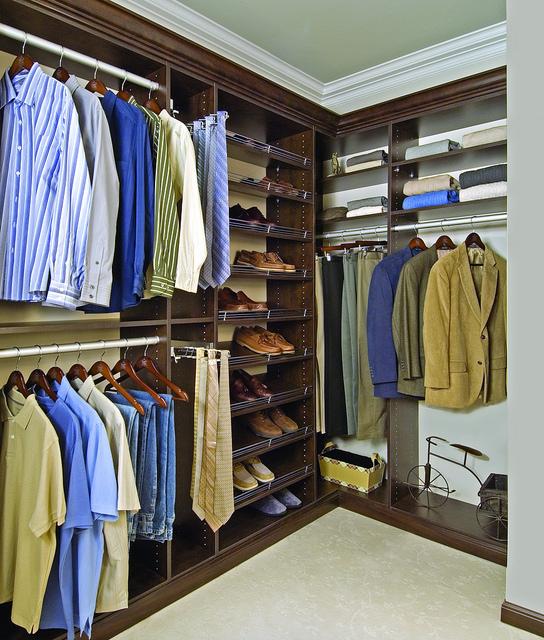 Men's custom closet walk-in