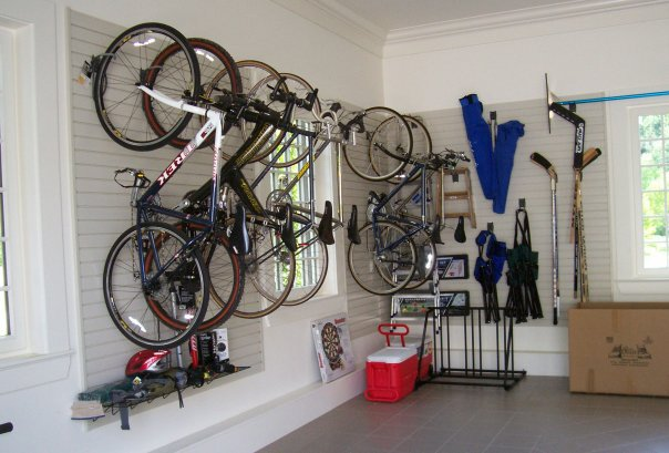 Slatted wall custom garage in Boston