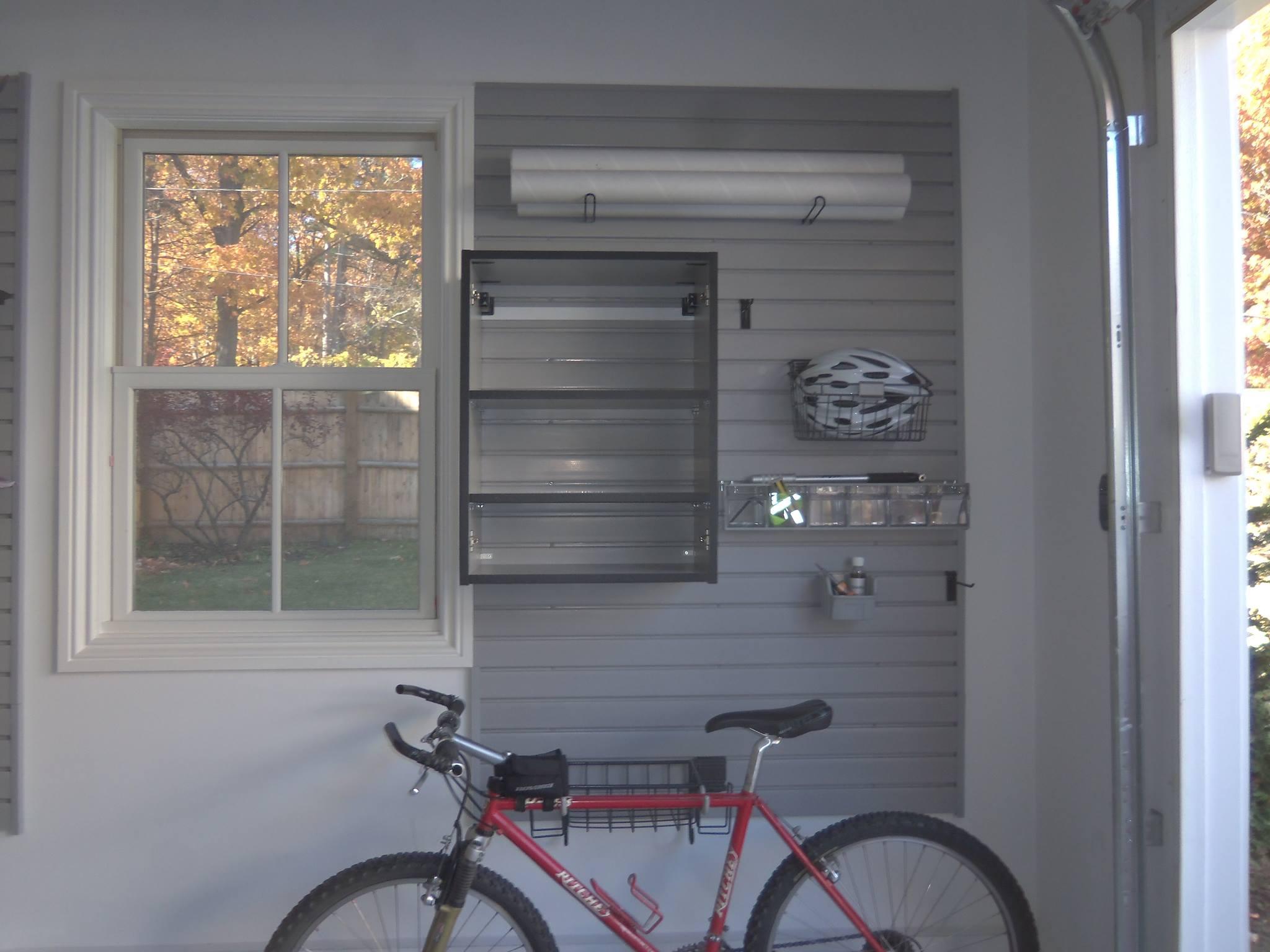Custom garage wall system