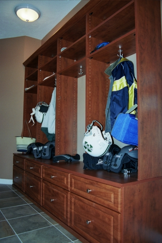 Mudroom cabinetry storage built-ins Franklin, MA