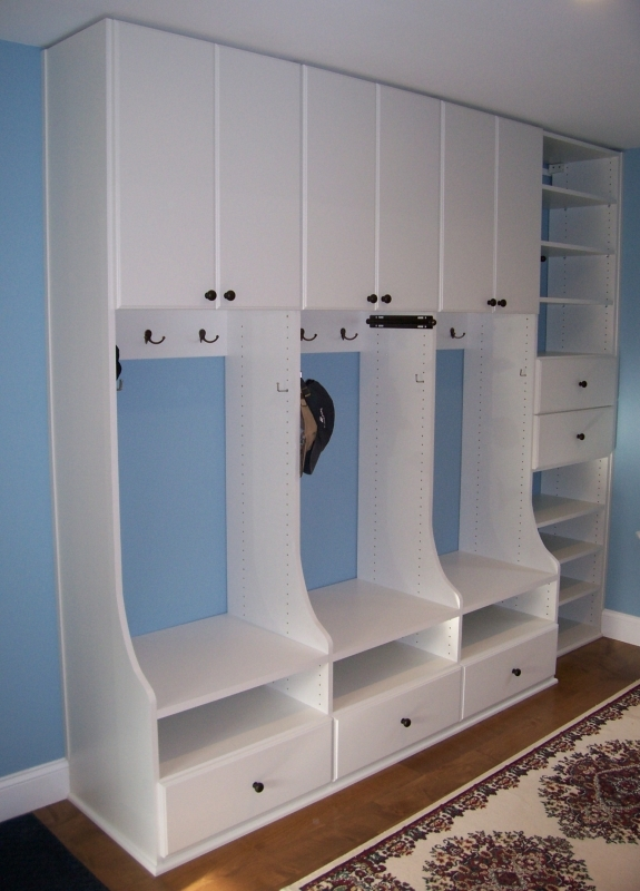 Built-in mudroom cabinetry Boston