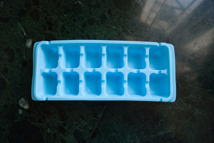 Ice cube on counter