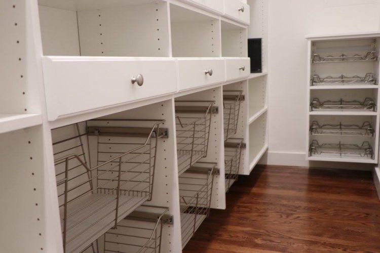 Custom pantry storage shelving Charlestown, MA