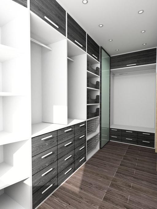 Organized contemporary custom closet Boston