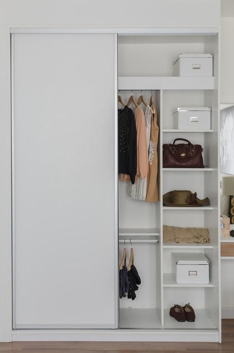 small white organized reach-in custom closet Medfield, MA