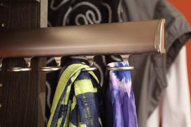 Scarf organizer custom closet Boston