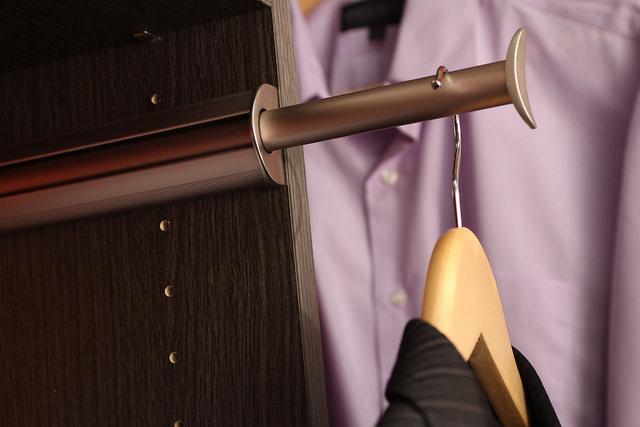 Valet rod in built-in Boston closet