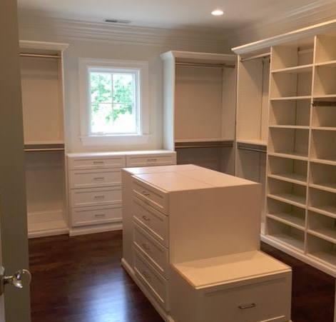 Built-in closet island Wellesley, MA