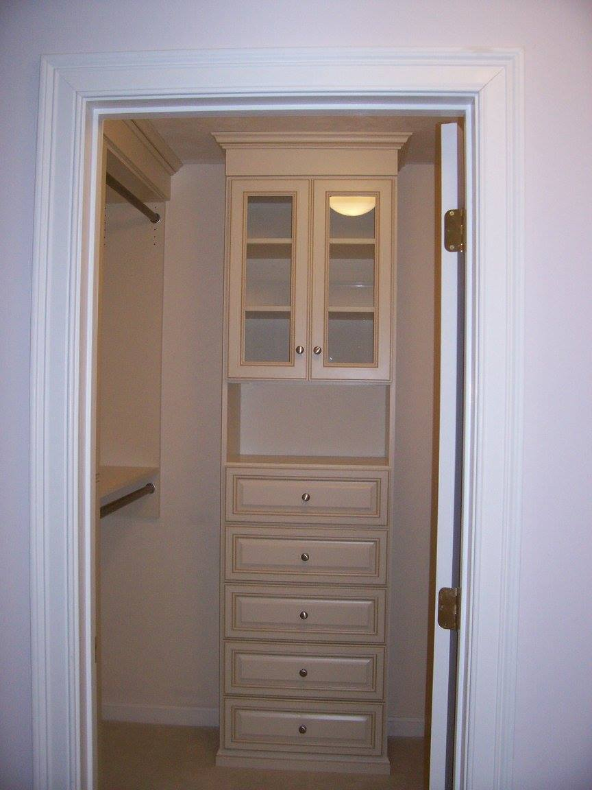 Small Boston walk-in closet system