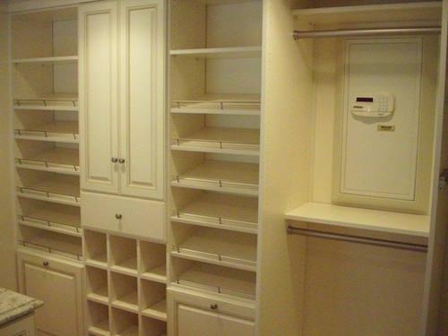 Safe in custom closet storage Boston home