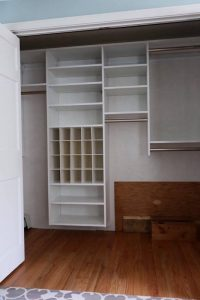 Large reach-in closet storage system Boston, MA