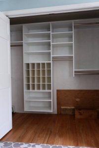 Large reach-in closet storage system Boston, MA