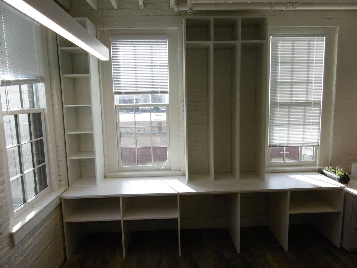 open shelves Boston home office