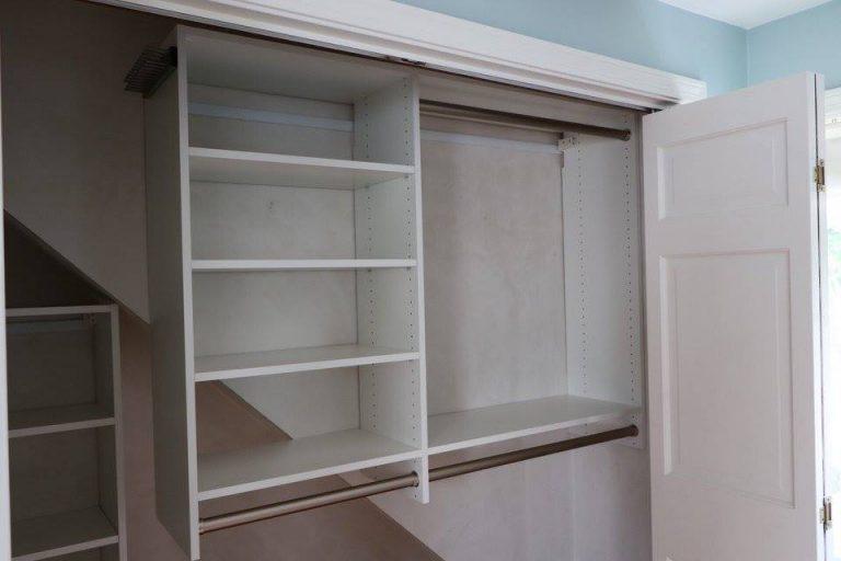 Multiple hang areas custom closet Boston