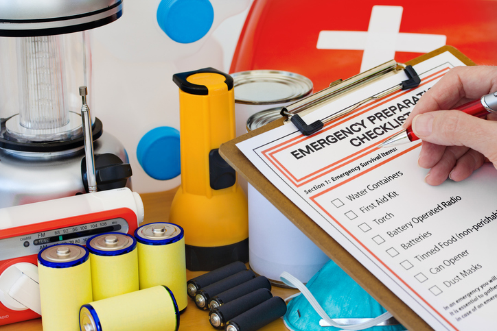 Emergency supply kit and checklist