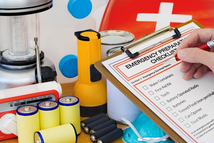 Emergency supply kit and checklist