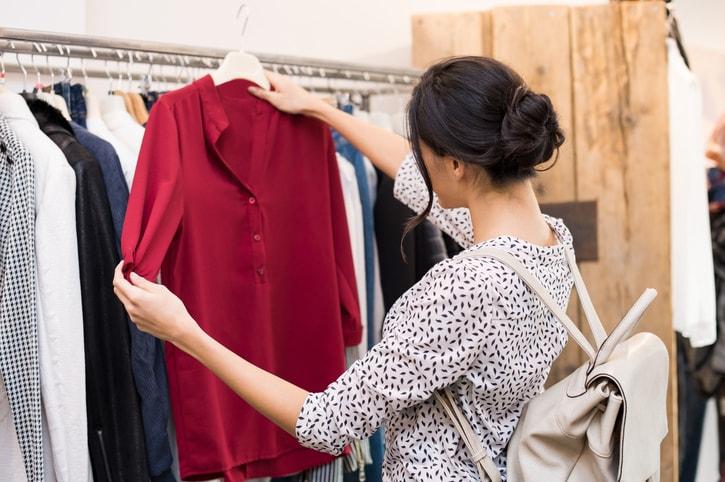 going through custom closet wardrobe