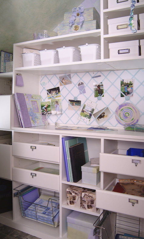 built-in craft station cabinets Boston