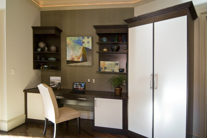 Murphy bed and desk unit in Charlotte home