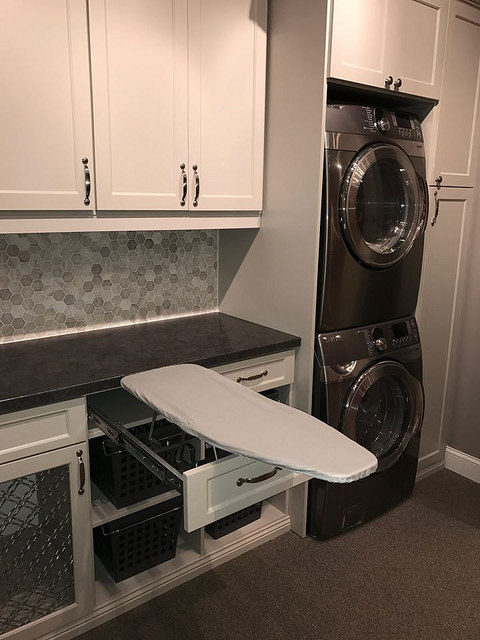 Custom laundry room storage in Charlotte, NC
