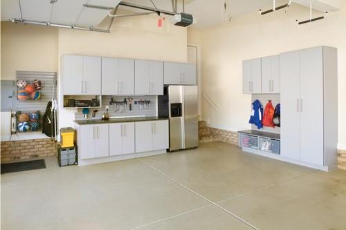 Modern garage cabinets in Charlotte