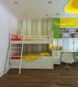 Kids Room with Customized Storage