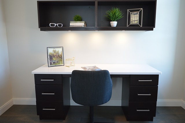 Organized modern home office