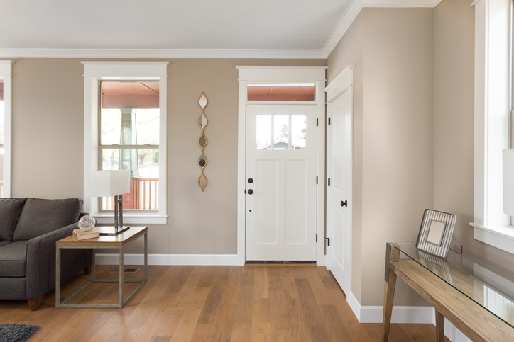 Neat and tidy entryway in home