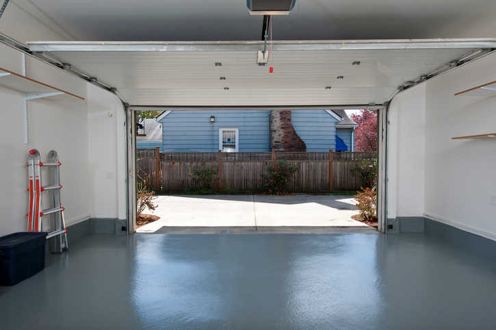 Clean and neat garage interior
