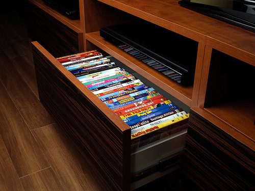 Custom entertainment center drawer