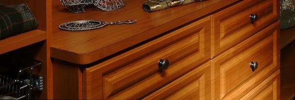 Hardware knob in custom closet