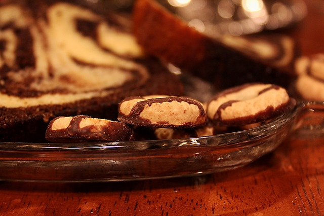Close-up of holiday cookies