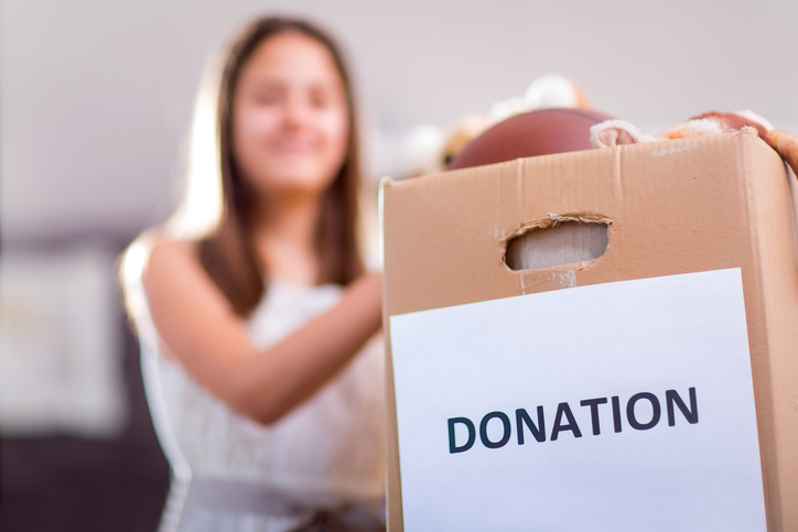 Sorting and donating clutter