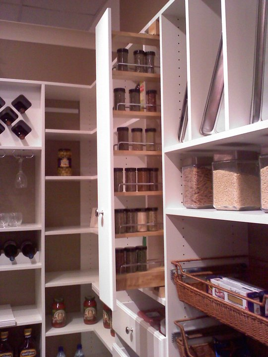 slide out pantry spice rack