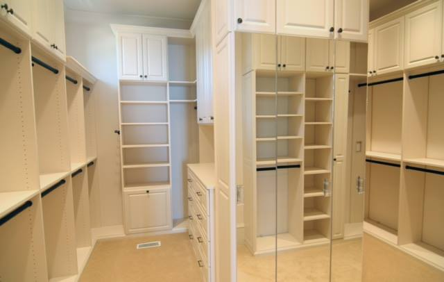 Traditional custom closet with mirrors Charlotte