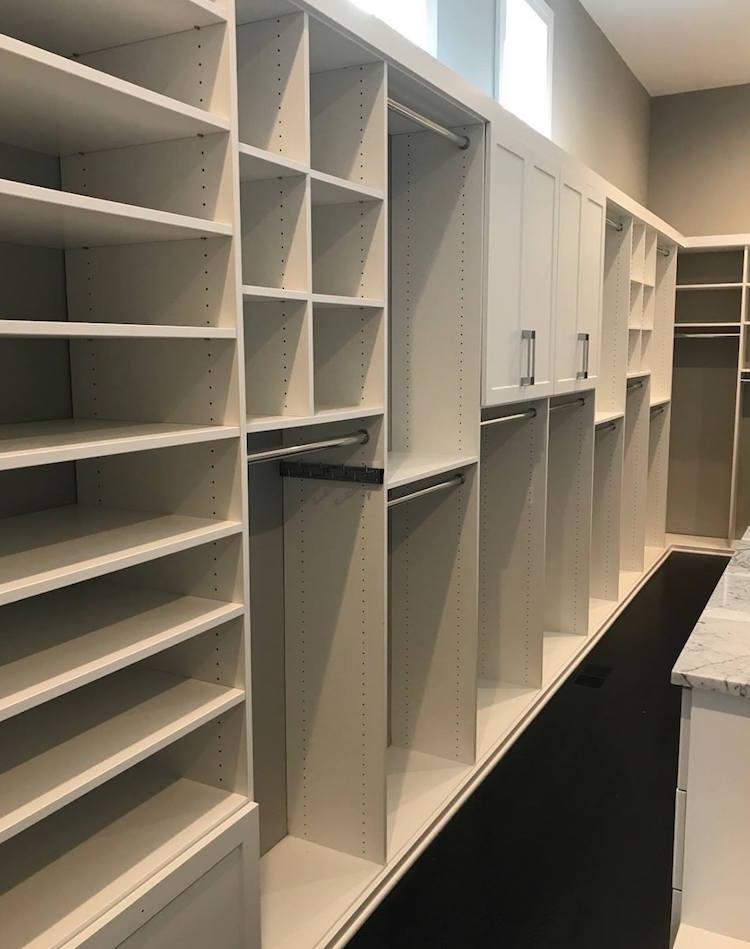 custom closet shelves Charlotte