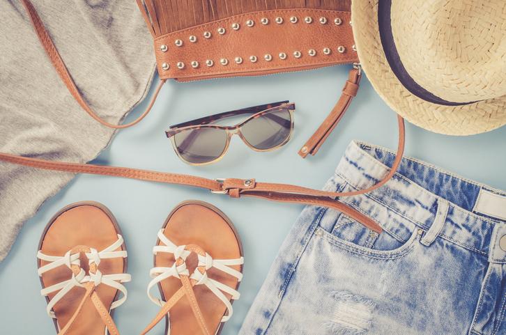 Flatlay of summer wardrobe essentials