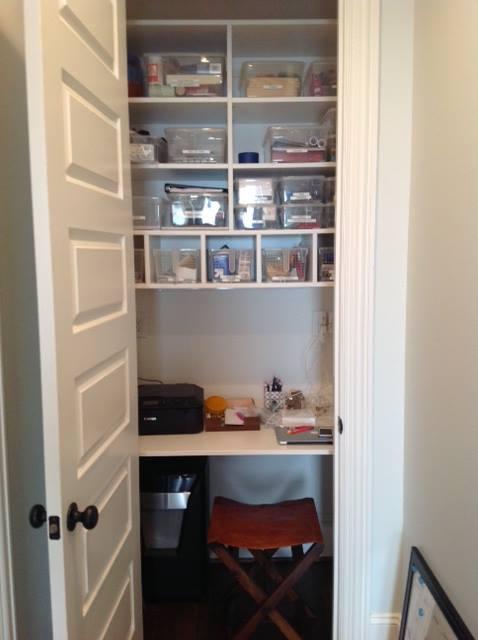 custom office in small closet Charlotte, NC