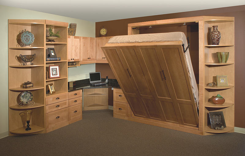 Custom home office and Murphy bed Charlotte