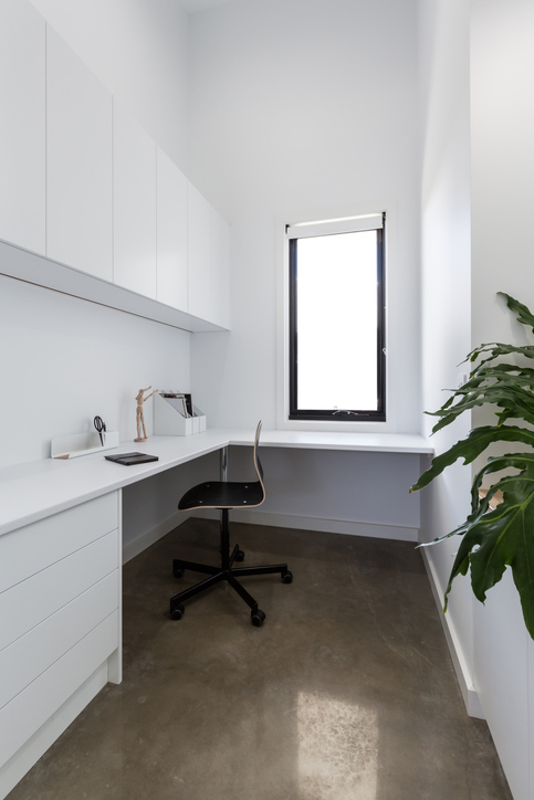 modern and bright home office