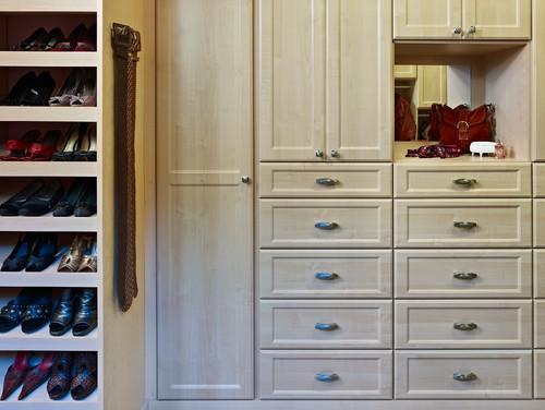 Custom closet shoe storage in Denver, CO