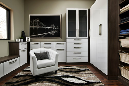 Contemporary custom closet Murphy bed