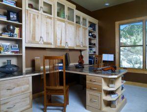 Eclectic custom home office furniture in Aurora