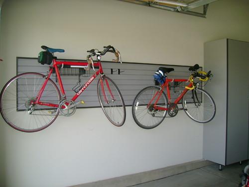 Hanging bike garage storage Denver