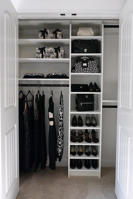 Custom closet solutions for sharing closet Denver