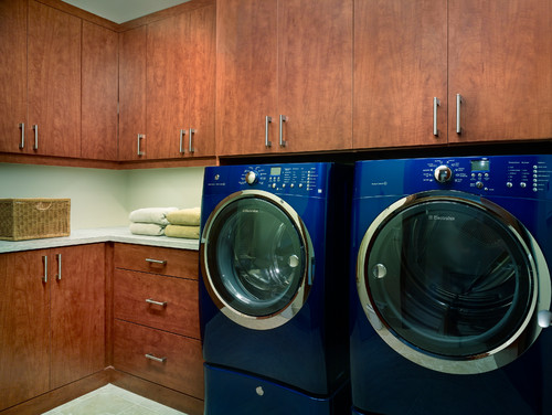 Contemporary Denver laundry room storage