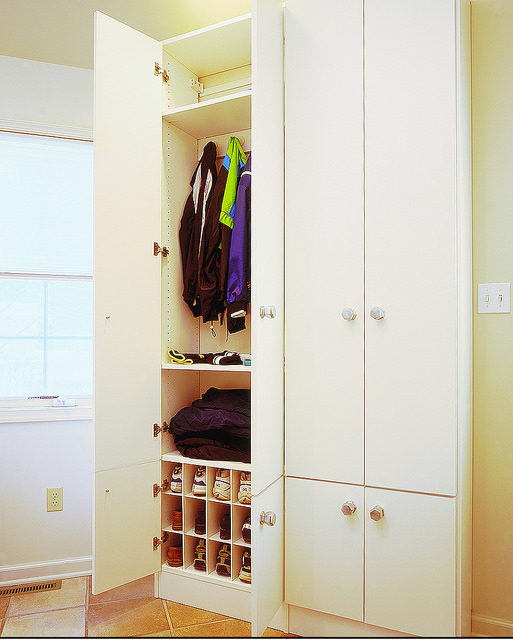 Built-in entryway storage cabinets Denver
