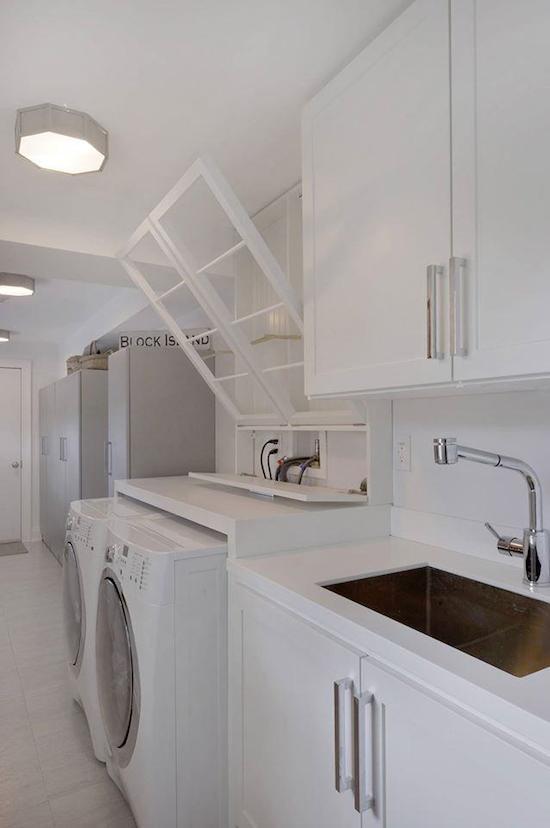 contemporary laundry room cabinets Denver