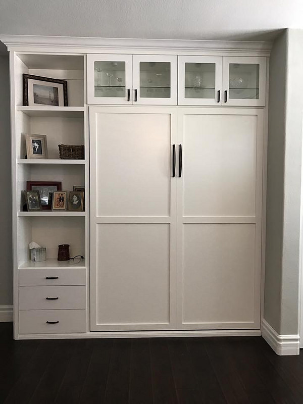 White murphy wall bed cabinet Denver